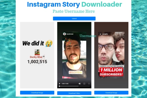 Download Instagram Story with Instasave app